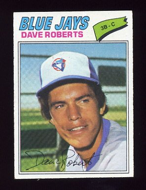 1977 Topps Baseball #537 Dave Roberts - Toronto Blue Jays