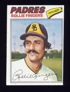 1977 Topps Baseball #523 Rollie Fingers - San Diego Padres