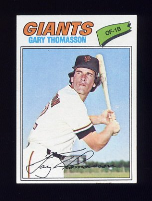 1977 Topps Baseball #496 Gary Thomasson - San Francisco Giants VgEx