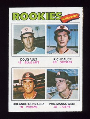 1977 Topps Baseball #477 Doug Ault / Rich Dauer / Orlando Gonzalez / Phil Mankowski