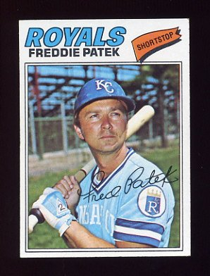 1977 Topps Baseball #422 Freddie Patek - Kansas City Royals