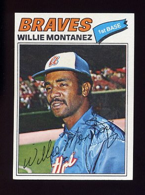 1977 Topps Baseball #410 Willie Montanez - Atlanta Braves