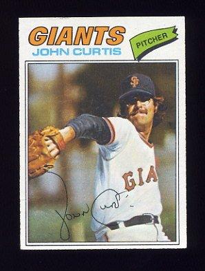 1977 Topps Baseball #324 John Curtis - San Francisco Giants