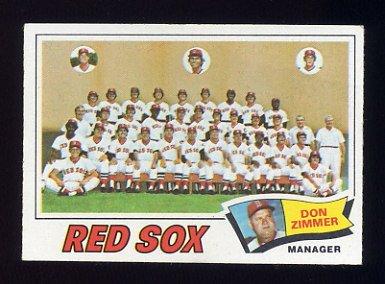1977 Topps Baseball #309 Boston Red Sox CL / Don Zimmer