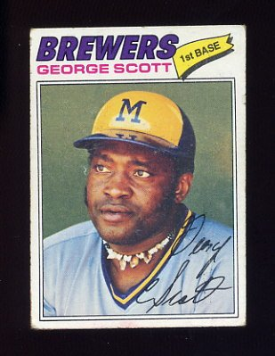 1977 Topps Baseball #255 George Scott - Milwaukee Brewers G