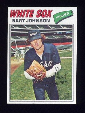 1977 Topps Baseball #177 Bart Johnson - Chicago White Sox