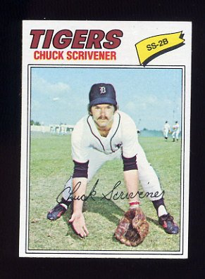 1977 Topps Baseball #173 Chuck Scrivener RC - Detroit Tigers