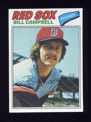 1977 Topps Baseball #166 Bill Campbell - Boston Red Sox