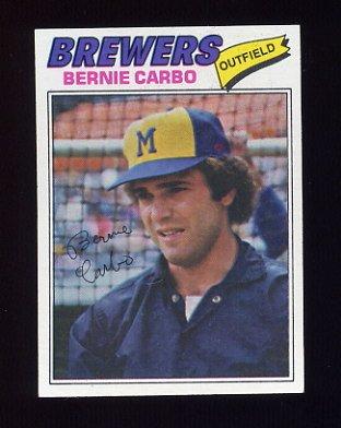 1977 Topps Baseball #159 Bernie Carbo - Milwaukee Brewers