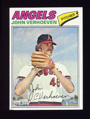1977 Topps Baseball #091 John Verhoeven RC - California Angels