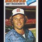 1977 Topps Baseball #080 Andy Messersmith - Atlanta Braves