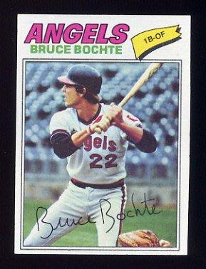 1977 Topps Baseball #068 Bruce Bochte - California Angels NM-M