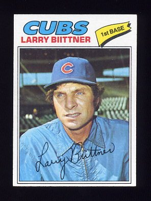 1977 Topps Baseball #064 Larry Biittner - Chicago Cubs
