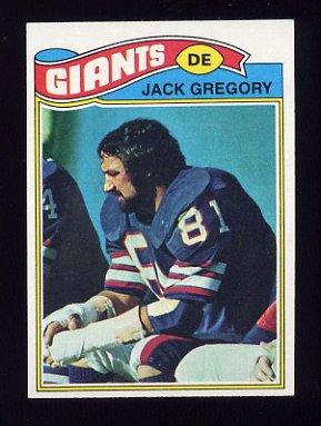 1977 Topps Football #519 Jack Gregory - New York Giants