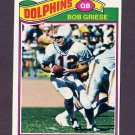 1977 Topps Football #515 Bob Griese - Miami Dolphins Ex
