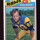 1977 Topps Football #513 Fred Dryer - Los Angeles Rams NM-M
