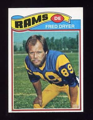 1977 Topps Football #513 Fred Dryer - Los Angeles Rams Ex