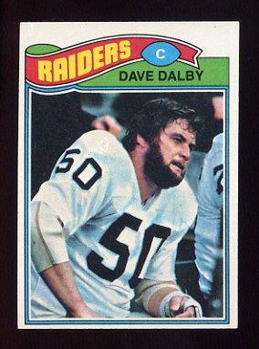1977 Topps Football #511 Dave Dalby - Oakland Raiders
