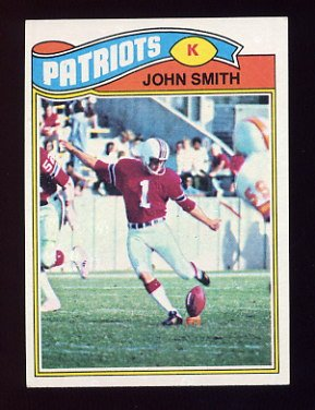 1977 Topps Football #499 John Smith - New England Patriots