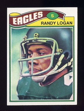 1977 Topps Football #498 Randy Logan - Philadelphia Eagles