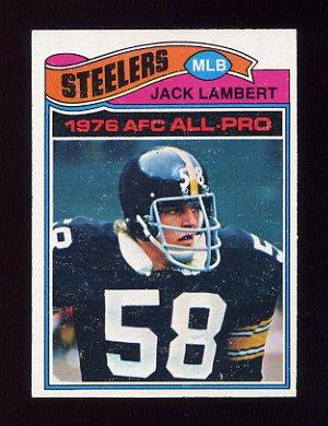 1977 Topps Football #480 Jack Lambert - Pittsburgh Steelers ExMt