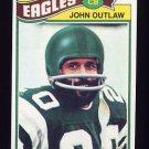 1977 Topps Football #466 John Outlaw - Philadelphia Eagles