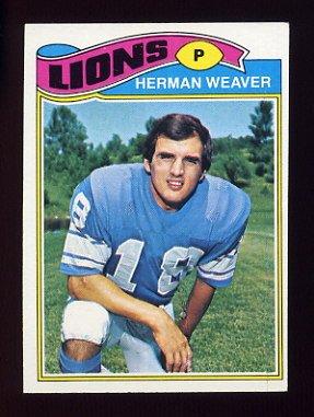 1977 Topps Football #462 Herman Weaver - Detroit Lions