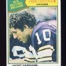 1977 Topps Football #454 Fran Tarkenton RB - Minnesota Vikings