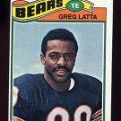 1977 Topps Football #439 Greg Latta - Chicago Bears