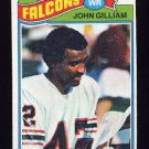 1977 Topps Football #418 John Gilliam - Atlanta Falcons