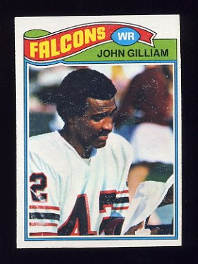 1977 Topps Football #418 John Gilliam - Atlanta Falcons