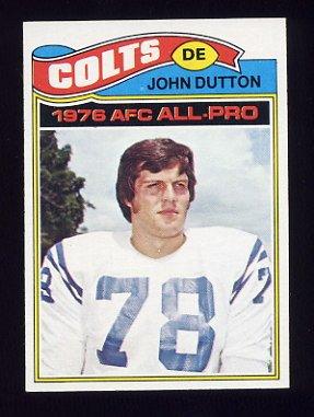 1977 Topps Football #410 John Dutton - Baltimore Colts NM-M