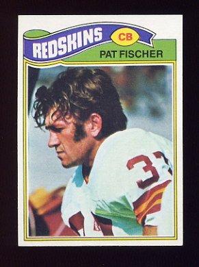 1977 Topps Football #409 Pat Fischer - Washington Redskins