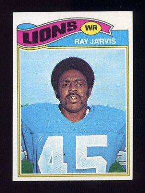 1977 Topps Football #404 Ray Jarvis - Detroit Lions