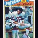 1977 Topps Football #401 Andy Johnson - New England Patriots