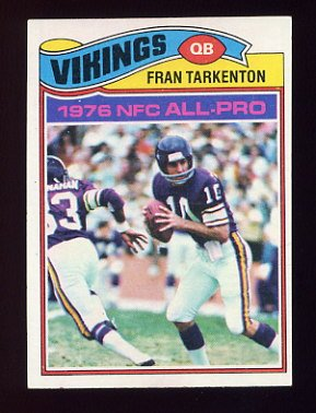 1977 Topps Football #400 Fran Tarkenton - Minnesota Vikings