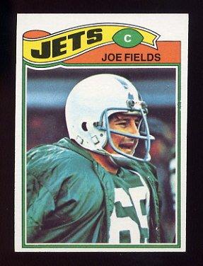 1977 Topps Football #398 Joe Fields RC - New York Jets
