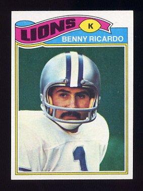 1977 Topps Football #374 Benny Ricardo - Detroit Lions