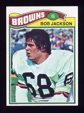 1977 Topps Football #371 Bob Jackson - Cleveland Browns