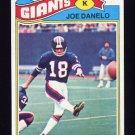1977 Topps Football #346 Joe Danelo - New York Giants