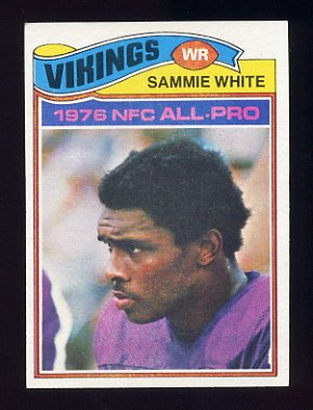1977 Topps Football #340 Sammie White RC - Minnesota Vikings
