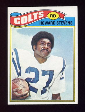 1977 Topps Football #328 Howard Stevens - Baltimore Colts