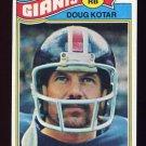 1977 Topps Football #324 Doug Kotar - New York Giants
