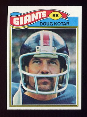 1977 Topps Football #324 Doug Kotar - New York Giants