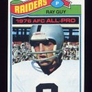 1977 Topps Football #320 Ray Guy - Oakland Raiders