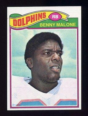 1977 Topps Football #316 Benny Malone - Miami Dolphins