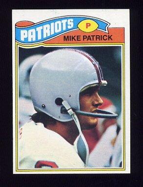 1977 Topps Football #313 Mike Patrick - New England Patriots