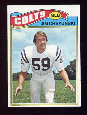 1977 Topps Football #312 Jim Cheyunski - Baltimore Colts