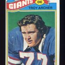 1977 Topps Football #258 Troy Archer - New York Giants
