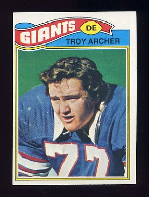 1977 Topps Football #258 Troy Archer - New York Giants